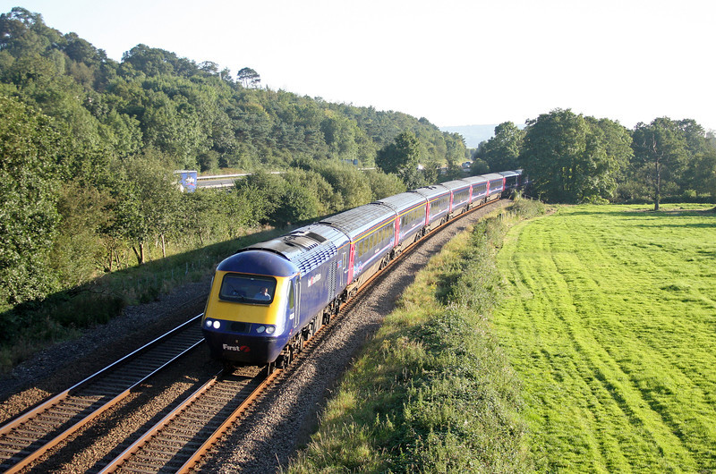HST, eastbound, Cullompton, 7-9-12.
