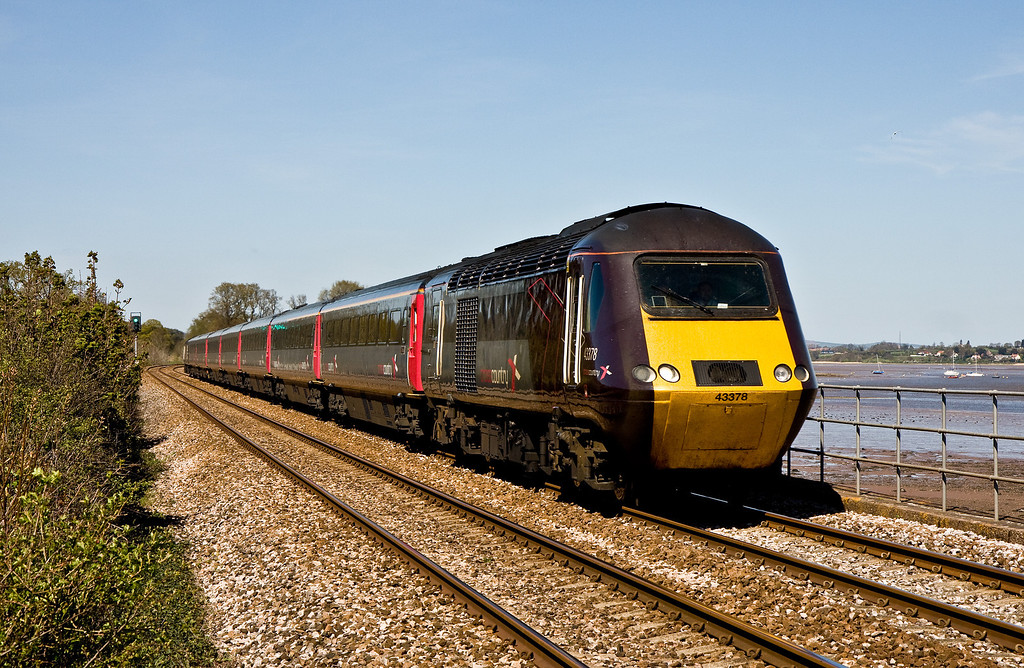 43378/43304, 06.45 Newcastle-Plymouth, Powderham, near Exeter, 15-4-14.