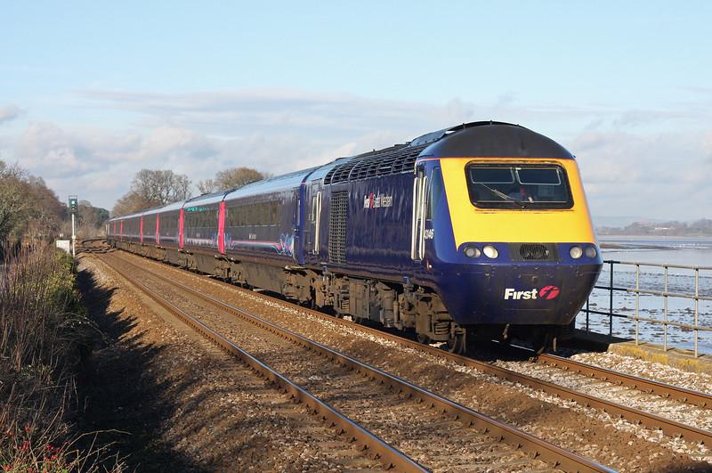 43146/43149, 10.00 Paddington-Paignton, Powderham, near Starcross, 11-1-12.