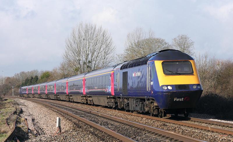 43197/43144, 07.41 Penzance-London Paddington, Bathpool, Taunton, 11-2-11.