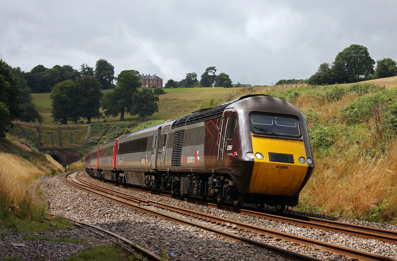 43366/43285, 12.23 Plymouth-Glasgow Central, Marlands, near Wellington, 3-8-10.