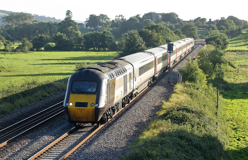43304/43, 17.23 Plymouth-Leeds, Rewe, near Exeter, 30-8-12.