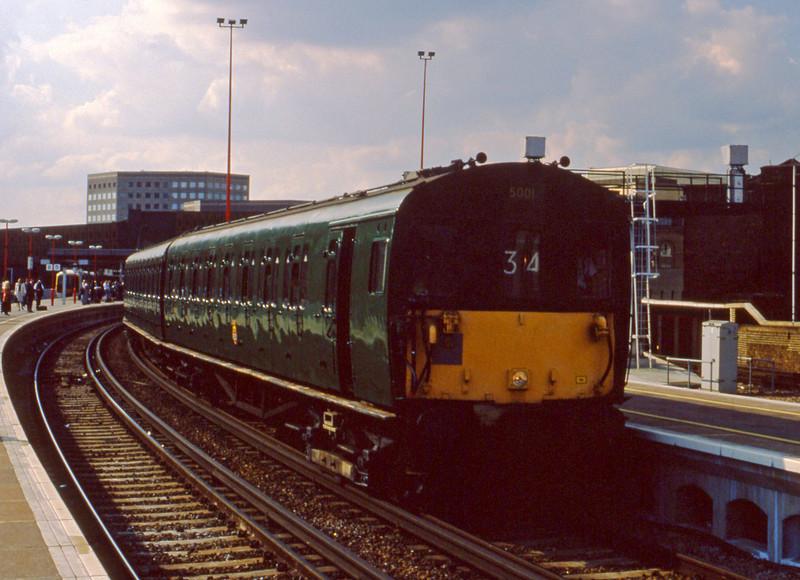 5001, westbound, London Bridge, 7-7-94.