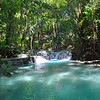 The waterfalls on Moyo Island were the most amazing light blue color. An incredible mineral gave it this hue.