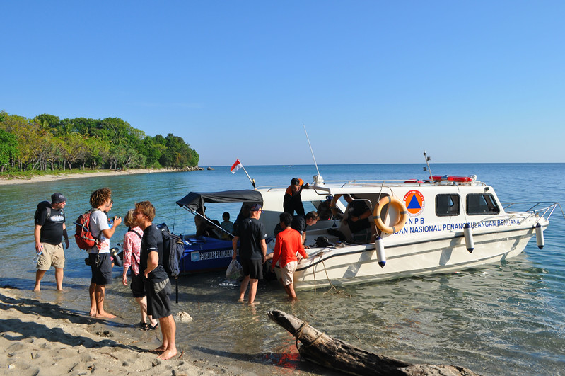 Off on a day excursion after the event to Moyo Island.
