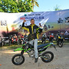 Excited Indonesian biker.