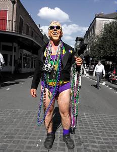 The President celebrating Mardi Gras.