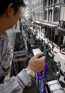 One of the three Asians that attended Mardi Gras.
