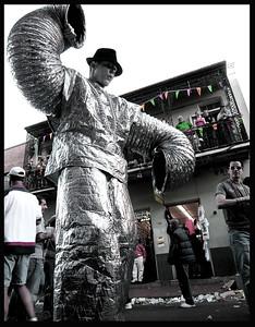 A street performer on Bourbon St.