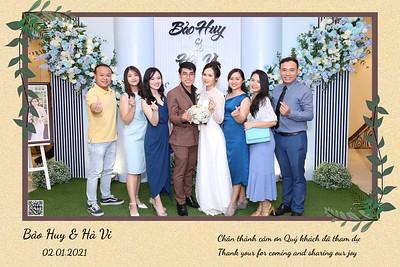 Bao Huy & Ha Vi wedding instant print photo booth @ Le Chateau Wedding Center | Chụp hình lấy liền Tiệc cưới tại TP Hồ Chí Minh | WefieBox Photobooth Vietnam
