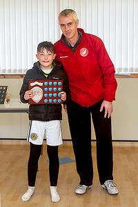 Samuel MacLennan (under 11 winner with Donnie Mata sheild) and Buck