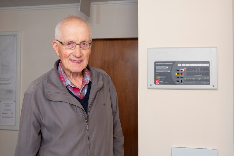 Fire alarm system funded by Point & Sandwick Trust