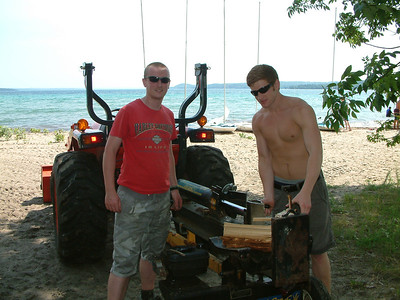 Our epic wood splitting duo Jon and Ben!!