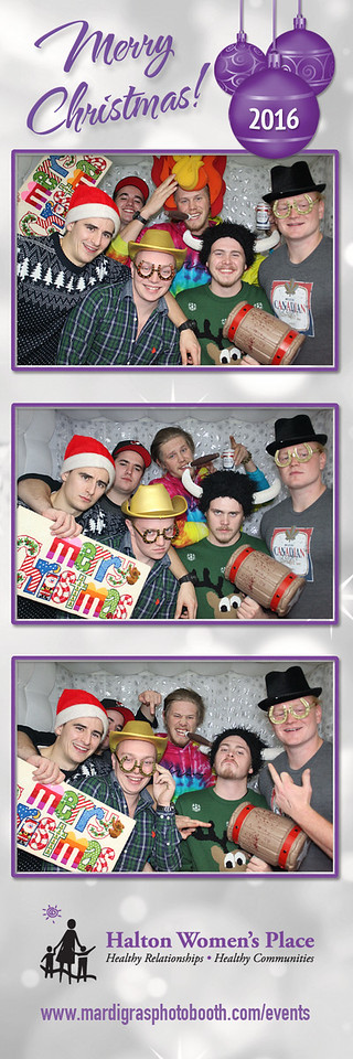 Photo Strips from the Friends of Halton Women's Place Christmas Party 2016