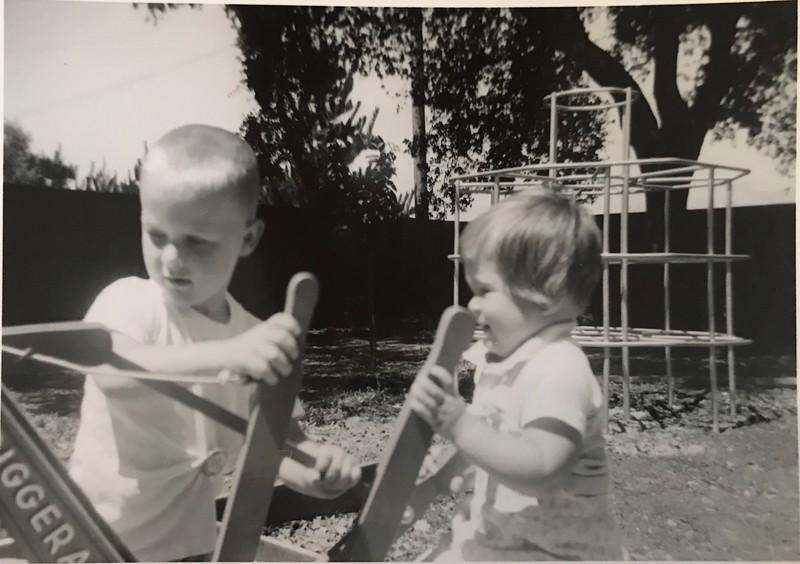 Donald Haake and Terry Haake at 36 Jennings Lane, Atherton c. 1961