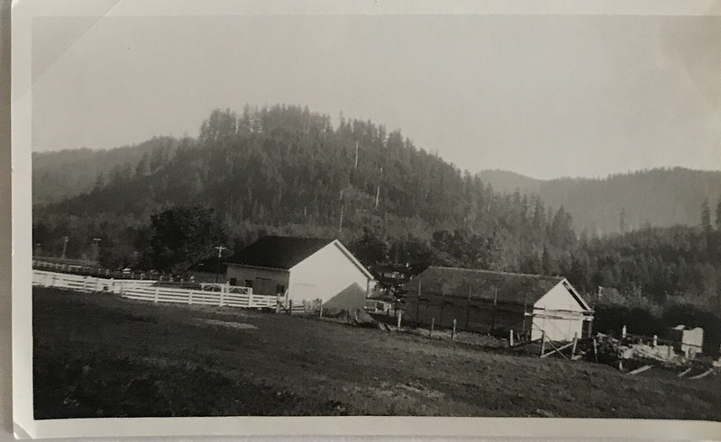 The Farm with Machine shed under construction