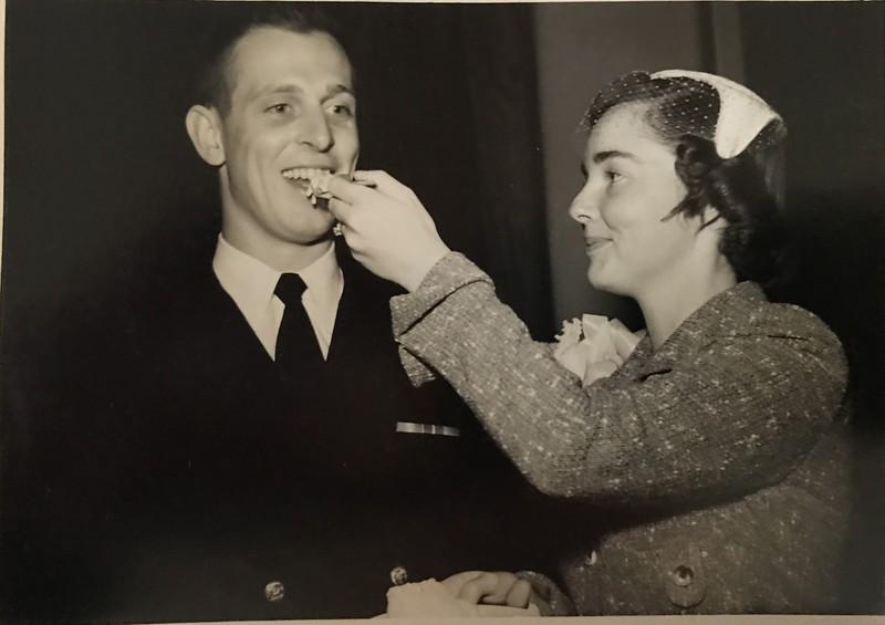 Newlyweds Richard and Martha Haake