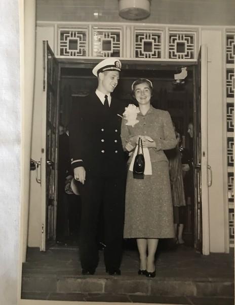 Richard Haake and Martha Baxter Haake on wedding day