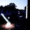 Dark silk - 2013 - found objetcs - rocks -  cage - ikea light - microphone stands