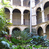 Courtyard in former convent, adjoining Basilica Francisco Asis Menor. The entire complex has been de-sanctified and now serves as a rehearsal and performance space.