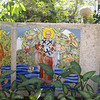 Some of the tiled panels adjoining the Orthodox chapel in the Basilica Francisco Asis Menor complex.