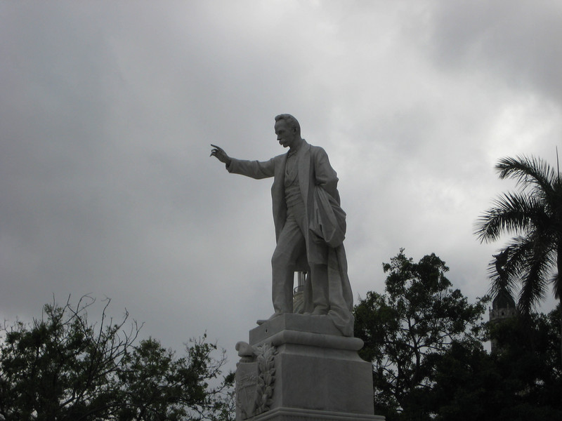 Jose Marti exhorts the masses.