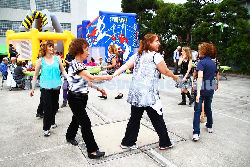 8-12-13. Habayit. Israeli Festival at Beth Weizmann. Israeli dancing. Photo: Peter Haskin