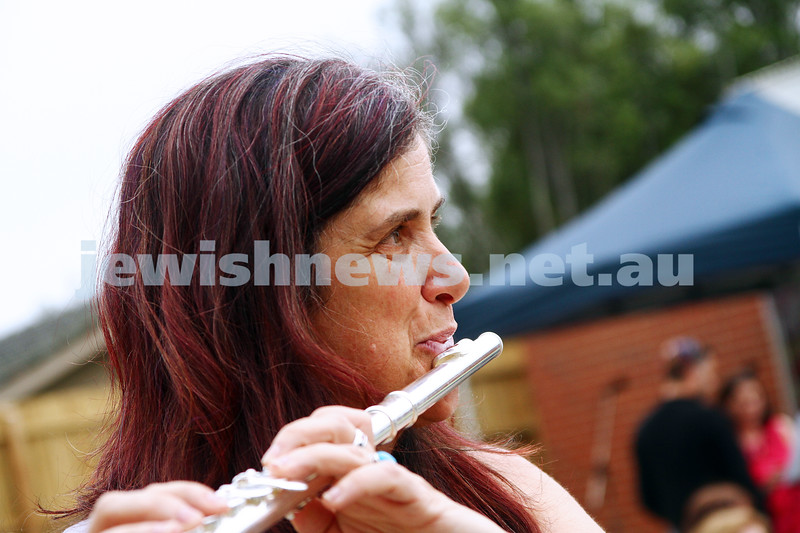 8-12-13. Habayit. Israeli Festival at Beth Weizmann. Playing the flute. Photo: Peter Haskin