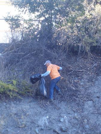 Bob at CSD creek cleanup