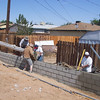 Prep work begins<br /> Earth moving, cement work, <br /> wall building, materials delivery