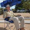 Ken testing shade canopy
