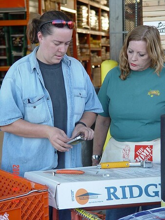 Women Build Home Depot Class August 2, 2004