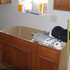 Kitchen sink location in front of house.