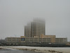 The Beau Rivage in fog
