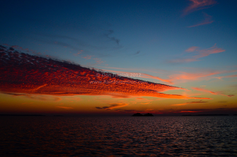 Sky on Fire<br /> Sunset over Florida Bay