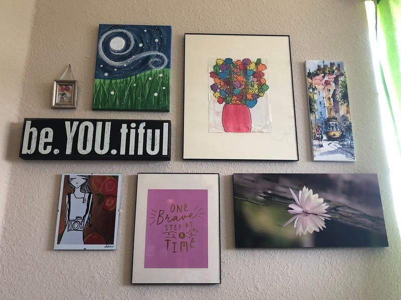 Lisa's Art Wall