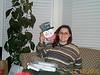 Lisa with card snowman 12-12-00