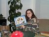 Lisa with doorway snowman 12-12-00