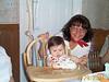 Emily & mom with cake 04-29-01