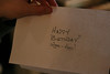 Happy Birth... what the? That looks like my handwriting.