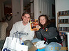 Allan & Rachael with gift 12-23-00