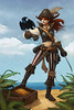 808x1198_3190_Pirate_2d_illustration_pirate_girl_woman_bird_picture_image_digital_art