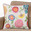 world market floral embroidered pillow 438923