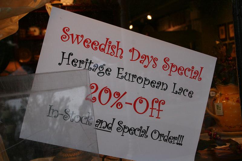 "Notice the spelling of ""Sweedish"""