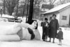 1950 sometime, cousin Gloria's snow lady