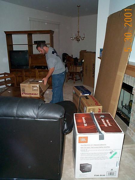 Alan unpacking