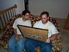 Tony & Alan looking at pictures