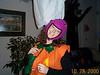Rachael as Pumpkin Barney 10-28-00
