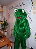 Susan as Kermit 10-28-00