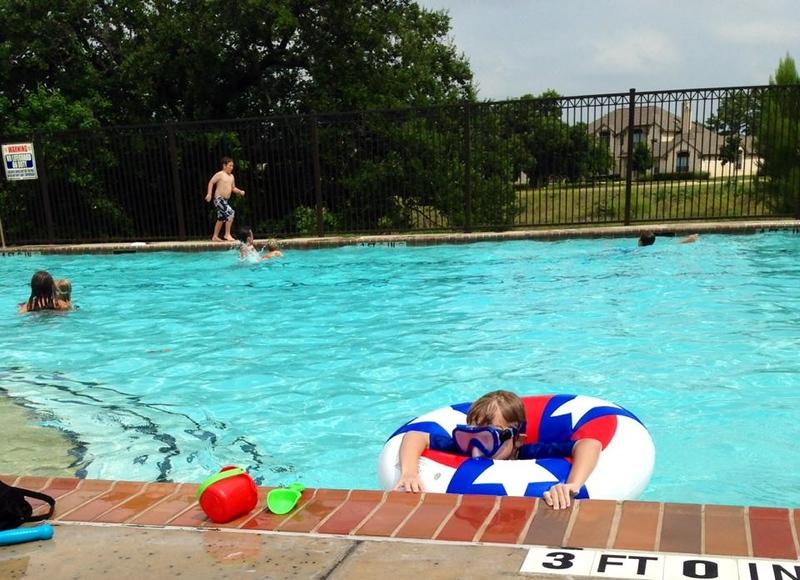 2014 07 Jul Jonah pool with Sheree